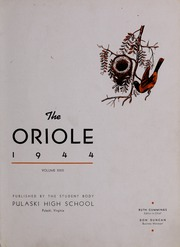 Page 5, 1944 Edition, Pulaski High School - Oriole Yearbook (Pulaski, VA) online yearbook collection