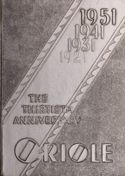 Pulaski High School - Oriole Yearbook (Pulaski, VA) online yearbook collection, 1951 Edition, Page 1