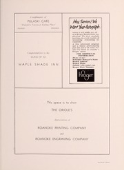 Page 115, 1952 Edition, Pulaski High School - Oriole Yearbook (Pulaski, VA) online yearbook collection