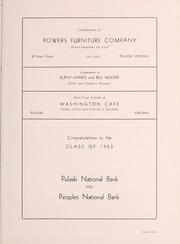 Page 115, 1953 Edition, Pulaski High School - Oriole Yearbook (Pulaski, VA) online yearbook collection