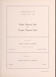 Page 129, 1955 Edition, Pulaski High School - Oriole Yearbook (Pulaski, VA) online yearbook collection