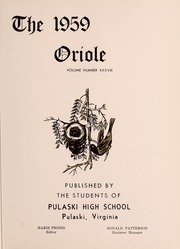 Page 5, 1959 Edition, Pulaski High School - Oriole Yearbook (Pulaski, VA) online yearbook collection