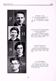 Page 14, 1939 Edition, Poquoson High School - York Chronicle Yearbook (Poquoson, VA) online yearbook collection