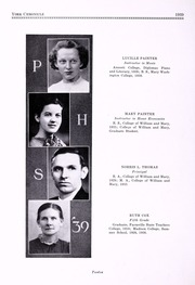 Page 16, 1939 Edition, Poquoson High School - York Chronicle Yearbook (Poquoson, VA) online yearbook collection