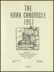 Page 5, 1951 Edition, Poquoson High School - York Chronicle Yearbook (Poquoson, VA) online yearbook collection