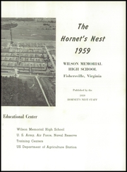 Page 7, 1959 Edition, Wilson Memorial High School - Hornets Nest Yearbook (Fishersville, VA) online yearbook collection