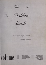 Page 5, 1966 Edition, Bluestone High School - Golden Link Yearbook (Skipwith, VA) online yearbook collection