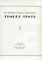 Page 9, 1938 Edition, John D Bassett High School - Timber Tints Yearbook (Bassett, VA) online yearbook collection