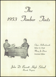 Page 7, 1953 Edition, John D Bassett High School - Timber Tints Yearbook (Bassett, VA) online yearbook collection