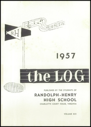 Page 5, 1957 Edition, Randolph Henry High School - Log Yearbook (Charlotte Court House, VA) online yearbook collection