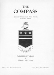 Page 7, 1937 Edition, George Washington High School - Compass Yearbook (Alexandria, VA) online yearbook collection