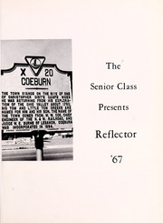 Page 5, 1967 Edition, Coeburn High School - Reflector Yearbook (Coeburn, VA) online yearbook collection