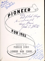 Page 5, 1953 Edition, Lebanon High School - Pioneer Yearbook (Lebanon, VA) online yearbook collection