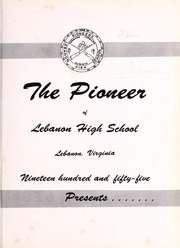 Page 5, 1955 Edition, Lebanon High School - Pioneer Yearbook (Lebanon, VA) online yearbook collection