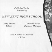 Page 3, 1968 Edition, New Kent High School - Iliad / Cavalier Yearbook (New Kent, VA) online yearbook collection
