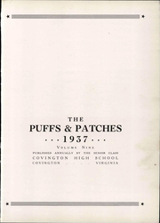 Page 9, 1937 Edition, Covington High School - Puffs and Patches Yearbook (Covington, VA) online yearbook collection