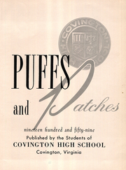 Page 7, 1959 Edition, Covington High School - Puffs and Patches Yearbook (Covington, VA) online yearbook collection