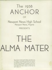 Page 5, 1958 Edition, Newport News High School - Anchor Yearbook (Newport News, VA) online yearbook collection