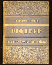 Andrew Lewis High School - Pioneer Yearbook (Salem, VA) online yearbook collection, 1940 Edition, Page 1