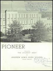 Page 7, 1950 Edition, Andrew Lewis High School - Pioneer Yearbook (Salem, VA) online yearbook collection