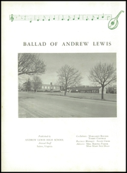 Page 6, 1958 Edition, Andrew Lewis High School - Pioneer Yearbook (Salem, VA) online yearbook collection