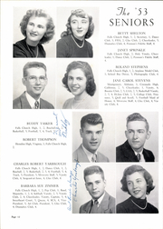 Page 16, 1953 Edition, George Mason High School - Mustang Yearbook (Falls Church, VA) online yearbook collection