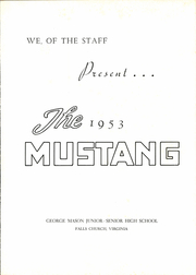 Page 5, 1953 Edition, George Mason High School - Mustang Yearbook (Falls Church, VA) online yearbook collection