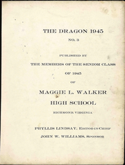 Page 3, 1945 Edition, Maggie L Walker High School - Dragon Yearbook (Richmond, VA) online yearbook collection