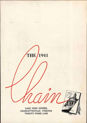 Page 9, 1941 Edition, Lane High School - Chain Yearbook (Charlottesville, VA) online yearbook collection