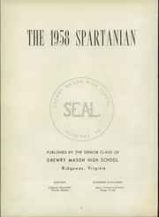 Page 6, 1958 Edition, Drewry Mason High School - Spartanian Yearbook (Ridgeway, VA) online yearbook collection