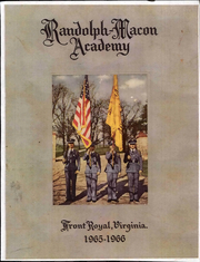 1966 Edition, Randolph Macon Academy - Yearbook (Front Royal, VA)