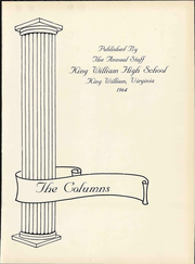 Page 7, 1964 Edition, King William High School - Columns Yearbook (King William, VA) online yearbook collection