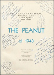 Page 5, 1943 Edition, Suffolk High School - Peanut Yearbook (Suffolk, VA) online yearbook collection