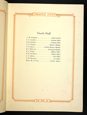Page 11, 1929 Edition, Hargrave Military Academy - Cadence Yearbook (Chatham, VA) online yearbook collection