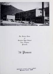 Page 5, 1970 Edition, Ervinton High School - Pioneer Yearbook (Nora, VA) online yearbook collection