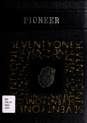 Ervinton High School - Pioneer Yearbook (Nora, VA) online yearbook collection, 1971 Edition, Page 1