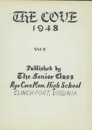 Page 5, 1948 Edition, Rye Cove High School - Cove Yearbook (Clinchport, VA) online yearbook collection