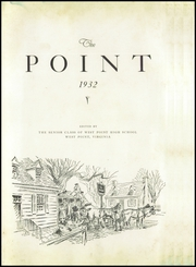 Page 7, 1932 Edition, West Point High School - Point Yearbook (West Point, VA) online yearbook collection