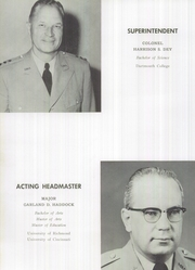 Page 14, 1959 Edition, Staunton Military Academy - Shrapnel Yearbook (Staunton, VA) online yearbook collection