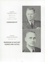 Page 15, 1959 Edition, Staunton Military Academy - Shrapnel Yearbook (Staunton, VA) online yearbook collection