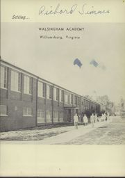 Page 7, 1958 Edition, Walsingham Academy - Legende Yearbook (Williamsburg, VA) online yearbook collection