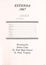 Page 5, 1967 Edition, St Paul High School - Estonoa Yearbook (St Paul, VA) online yearbook collection