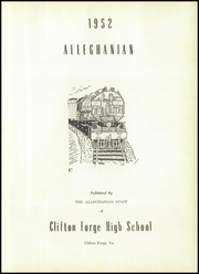 Page 7, 1952 Edition, Clifton Forge High School - Alleghanian Yearbook (Clifton Forge, VA) online yearbook collection