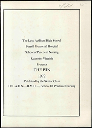 Page 7, 1972 Edition, Lucy Addison High School - Pin Yearbook (Roanoke, VA) online yearbook collection