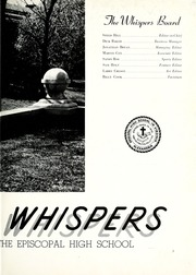 Page 7, 1953 Edition, Episcopal High School - Whispers Yearbook (Alexandria, VA) online yearbook collection
