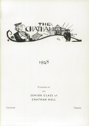 Page 5, 1948 Edition, Chatham Hall - Chathamite Yearbook (Chatham, VA) online yearbook collection