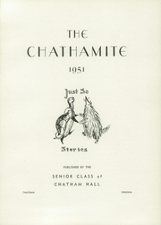 Page 5, 1951 Edition, Chatham Hall - Chathamite Yearbook (Chatham, VA) online yearbook collection