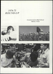 Page 7, 1975 Edition, Crockett Junior High School - Roundup Yearbook (Odessa, TX) online yearbook collection
