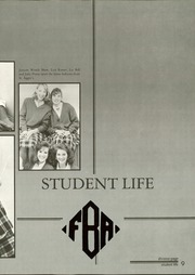 Page 13, 1987 Edition, First Baptist Academy - Cornerstone Yearbook (Dallas, TX) online yearbook collection