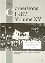Page 5, 1987 Edition, First Baptist Academy - Cornerstone Yearbook (Dallas, TX) online yearbook collection